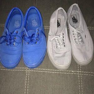 Two pair of vans